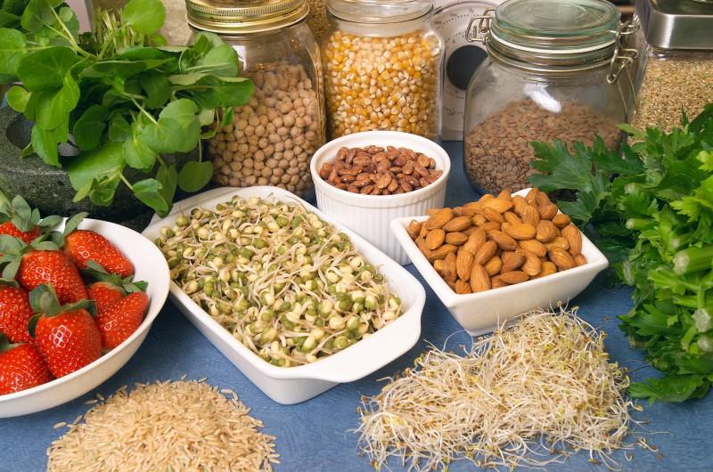 Alimentos saudáveis para secar